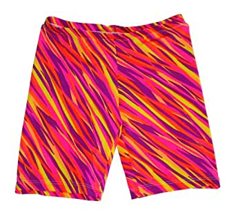 """Bskinz Compression Shorts for Women/ Girls-zig zag (available in 2 lenghts) (XL-6"""")"""