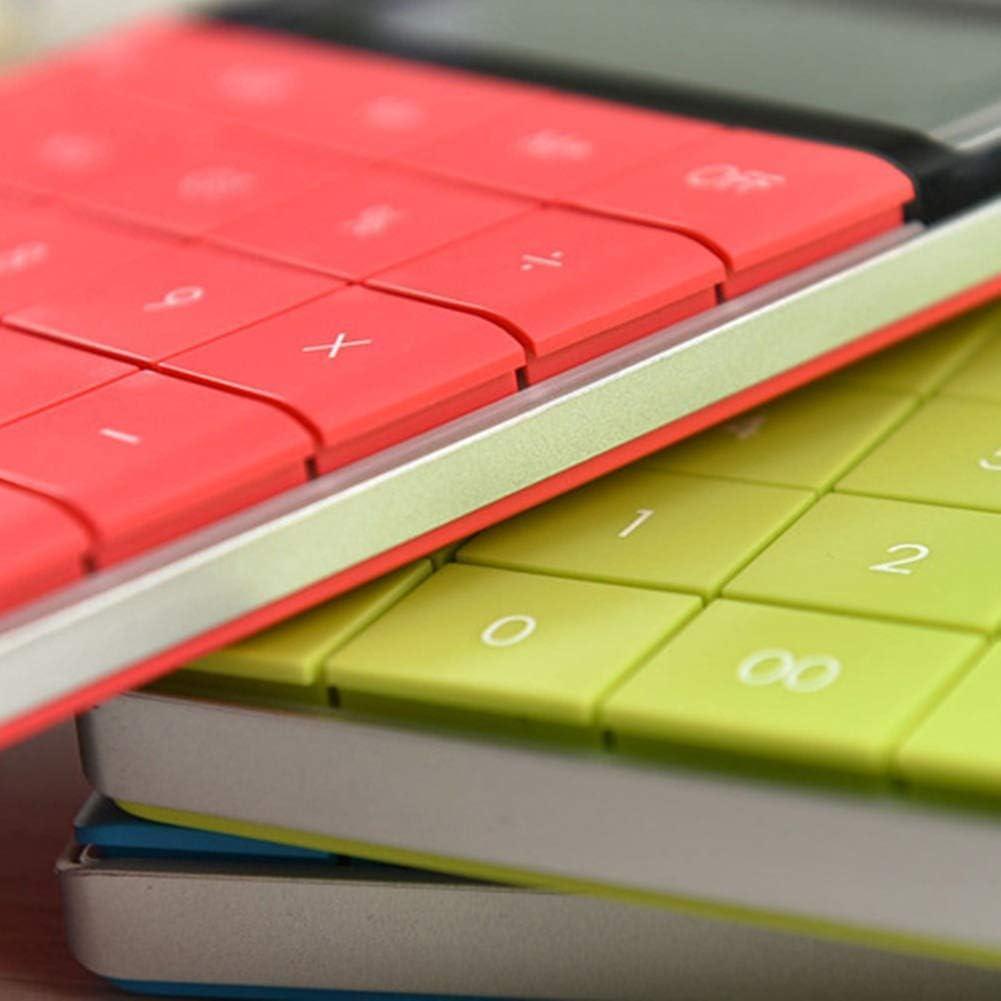 FairOnly Dual Power Rechner f/ür tragbare Z/ählmaschinen Schulbedarf f/ür gro/ße Tasten rot Good