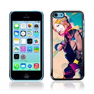 Designer Depo Hard Protection Case for Apple iPhone 5C / Cool Abstract Art Composition Girl