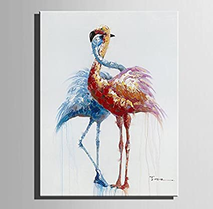 Amazon Com Lj L Two Birds Decorative Artwork 100 Hand Painted Art