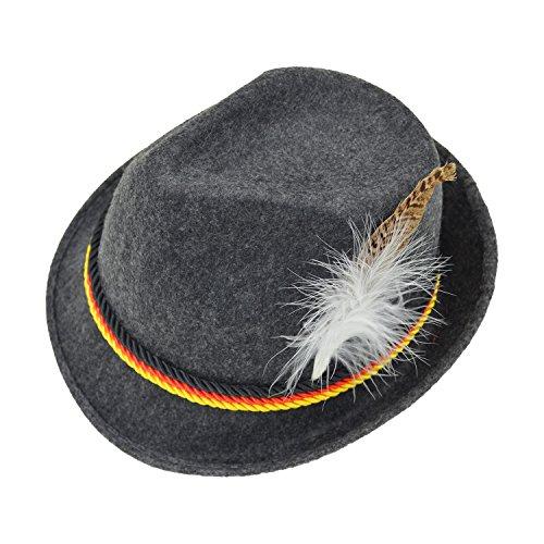 Melesh-Adult-Felt-Swiss-German-Alpine-Bavarian-Oktoberfest-Hat-Cap