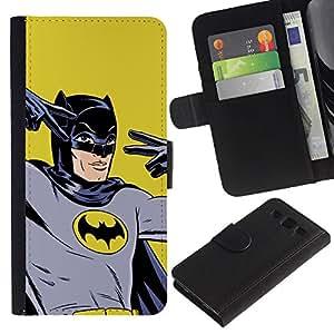 """A-type (Retro Vintage Bat Superhero"""") Colorida Impresión Funda Cuero Monedero Caja Bolsa Cubierta Caja Piel Card Slots Para Samsung Galaxy S3 III i9300 i747"""