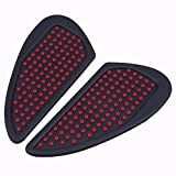 POSSBAY 2Pcs Motorcycle Tank Traction Pad Side Gas Knee Grip Protector Silicone Anti-slip for Harley