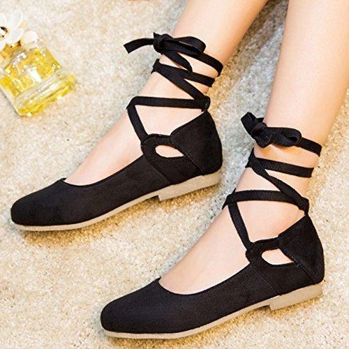 Donna Flat Flats Comfort 2 Zanpa Pumps Ballets black CpqZw8w