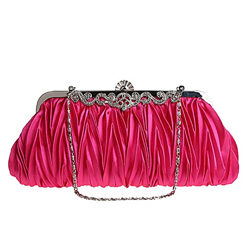 Hand Molly Cinched Vintage Rose Various Fashion Elegant Purse Clutch Bag Womens Classy Satin Colors Envelope Evening Pq0CPUxn
