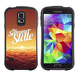 LASTONE PHONE CASE / Suave Silicona Caso Carcasa de Caucho Funda para Samsung Galaxy S5 SM-G900 / Summer State Clouds Orange Sunset