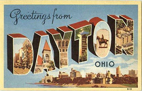 Greetings From Dayton Dayton, Ohio Original Vintage Postcard from CardCow Vintage Postcards