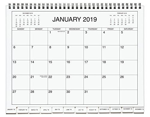 """Miles Kimball 3-Year Calendar Diary Pages with Divider Tabs, 8 5"""" x 11"""" –  Spiralbound Month-by-Month Calendar, 2019-2021"""