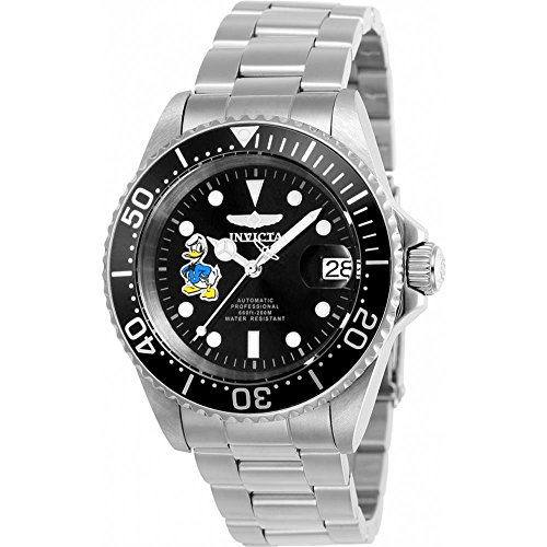 Men's 'Disney Limited Edition' Automatic Stainless Steel Casual Watch, Color:Silver-Toned (Model: ) - Invicta 24396