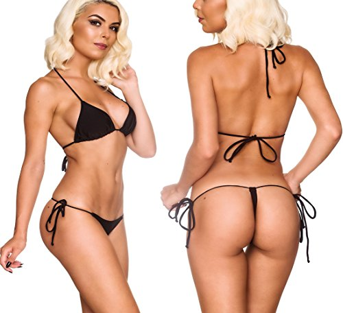 2dd657a265d74 ... Mini Bikini Swimsuit G String · THE MESH KING Coqueta Swimwear Micro  Brazilian Sexy Bikini Teeny Thong Triangle Top Set Bottom