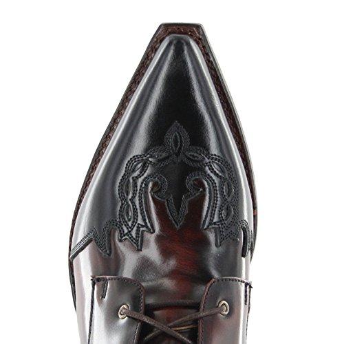 Sendra Stivali 11699 Blanco Schnürstiefelette Negro Per Le Donne Nere Signore Bianche Profonda Lette Fuxia Negro