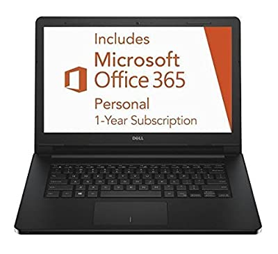 2016 Newest Dell Inspiron Laptop with 1 Year Office 365 Personal and 1TB Cloud Storage (Intel Dual Core Celeron Processor, 14-Inch HD Display, 2GB RAM, 32GB Flash Storage, Webcam, Windows 10 Home)