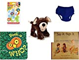 Children's Gift Bundle - Ages 0-2 [5 Piece] - Nuby 3 Step Soothing Teether Set, BPA Free - Circo Infant Reusable Swim Diaper Royal Blue Size L 24 Months 22-25 lbs - Webkinz HM348 Mocha Pup Plush Ani