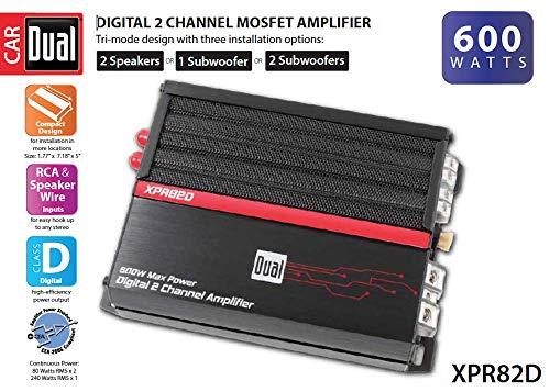 Dual XPR82D 2/1 High Performance Power MOSFET Class D Car Amplifier