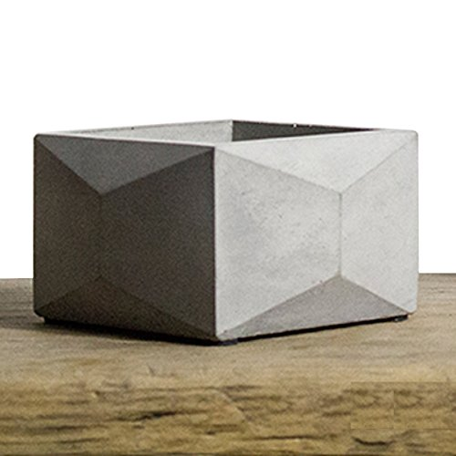 - Lieomo Handmade Modern Simplicity Polyhedron Square Designs Geometric Style Concrete Planter