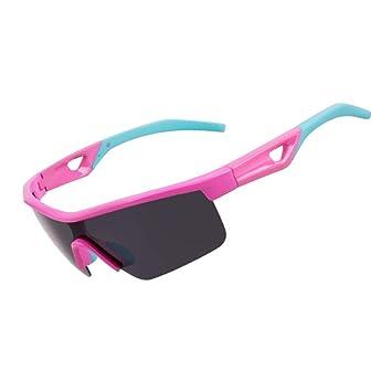 Nalkusxi Gafas de Sol para niños Gafas de Sol polarizadas Deportivas Gafas de Deporte para niños