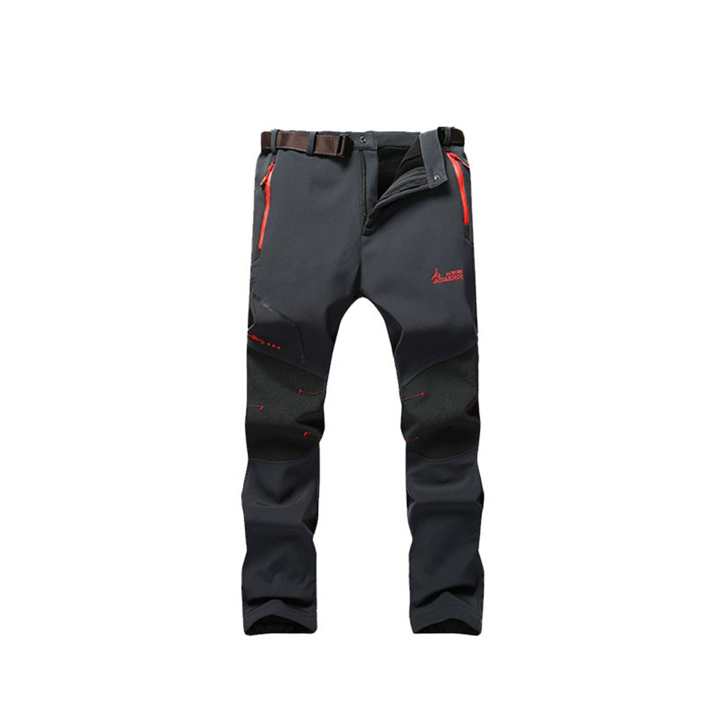 Modern Fantasy Men's Elastic Waterproof Ski Outdoor Soft Sport Fleece Pants