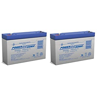 SECURITY BRAND OR SIMILAR REPLACEMENT FOR MGE ES4 Battery 6V 7Ah - 2 Pack