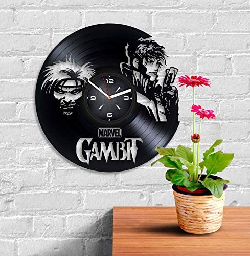 Gambit Movie Vinyl Record Wall Clock. Decor