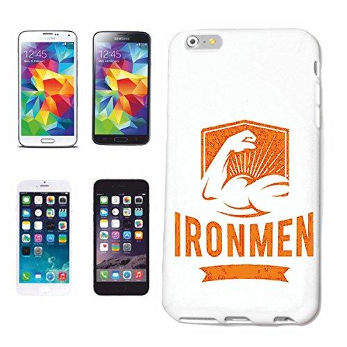 "cas de téléphone iPhone 6S ""Musculation Ironmen BODYBUILDING GYM GYM muskelaufbau SUPPLEMENTS WEIGHTLIFTING BODYBUILDER"" Hard Case Cover Téléphone Covers Smart Cover pour Apple iPhone en blanc"