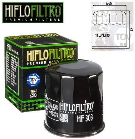 FILTRO OLIO MOTORE HIFLO HF303 PER HONDA VT 1100 C SHADOW 1998