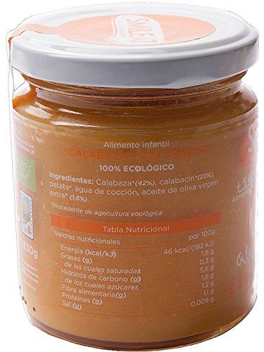 Tarrito de Calabaza y Calabacin Ecologico Smileat +6M (230 gr): Amazon.es: Salud y cuidado personal