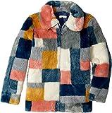 Stella McCartney Kids Girl's Abbie Color Block Faux Fur Jacket (Little Kids/Big Kids) Multi Outerwear