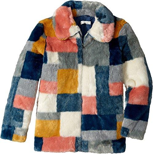 Stella McCartney Kids Girl's Abbie Color Block Faux Fur Jacket (Little Kids/Big Kids) Multi Outerwear by Stella McCartney Kids