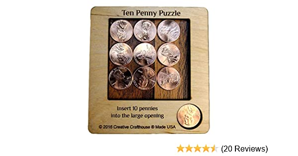 Creative Crafthouse Wooden Puzzle 10 Penny Puzzle