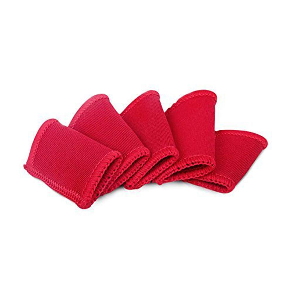 Xeminor Finger Sleeves Support Elastic Protector Cover for Basketball tendonitis Injury Prevention Heat Retention(5Pcs,Red)