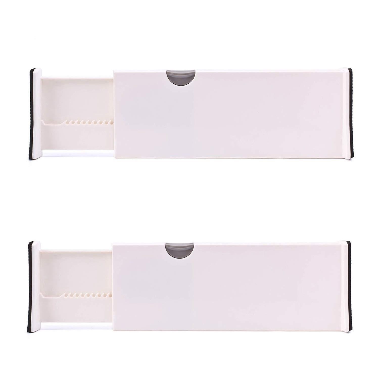 Adjustable Drawer Dividers, Expandable Drawer Organiser Set, Plastic (2 Pack) Grandwish