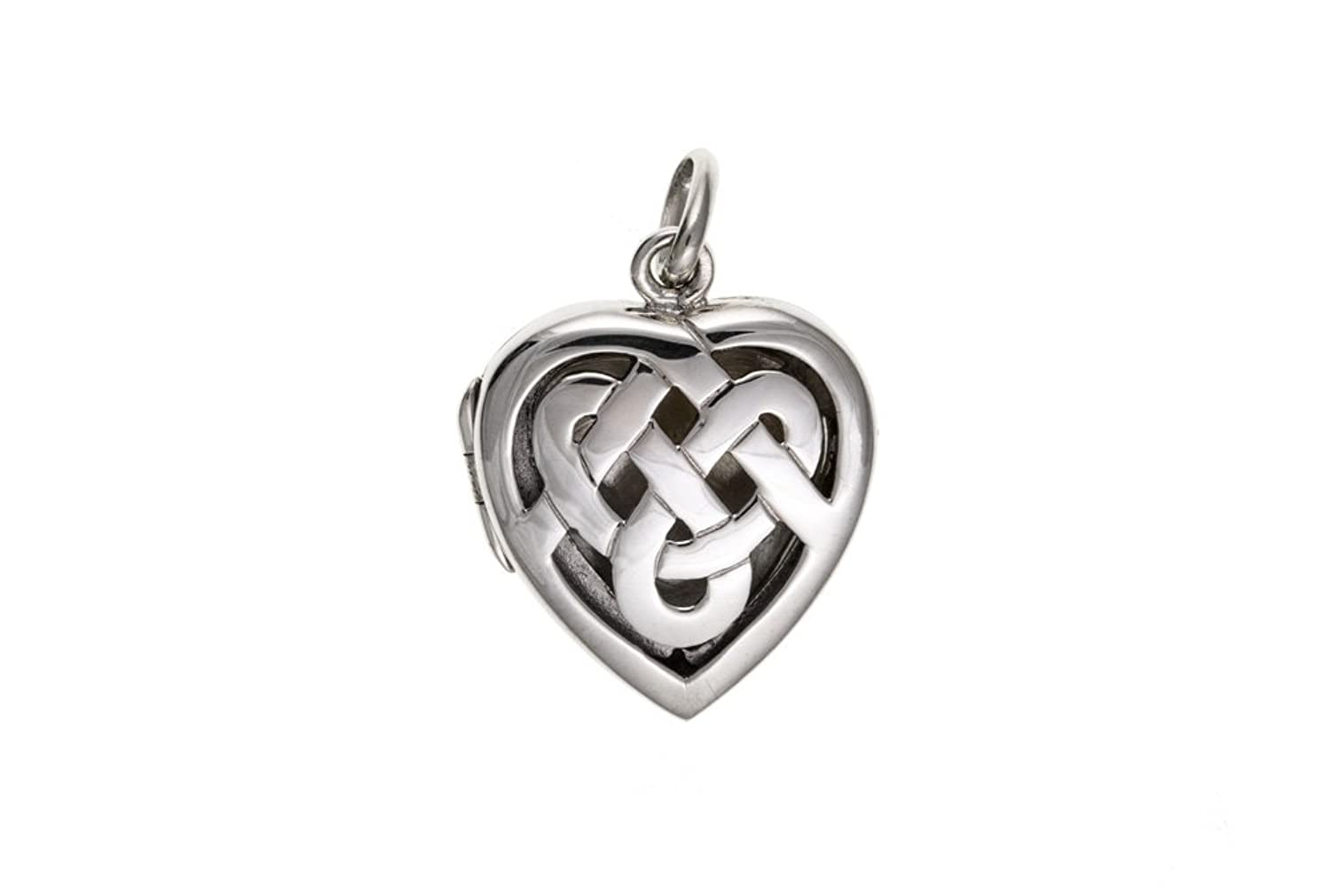 wedding silver scottish lockets triquetra locket trinity triangle celtic pin jewelry knot irish necklace