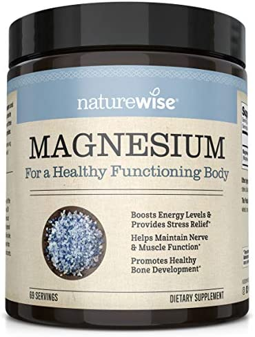 NatureWise Naturewise Magnesium Powder for Nerve & Energy Support from Magnesium Citrate (2+ Month Supply), 303.6 Gram 1