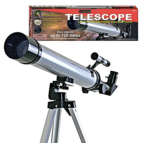 Telescope with 4' Adjustable Aluminum Tripod - View Objects up to 120 Times