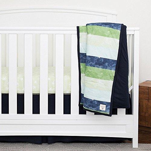 Burt S Bees Baby Watercolor Stripe Reversible Quilt 100