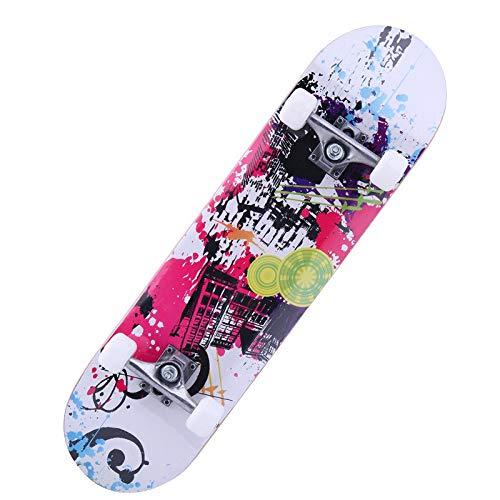LSSZJHL 31inch Adult & Kids Double Rocker Skateboard Dancing Skateboard Maple Deck Board