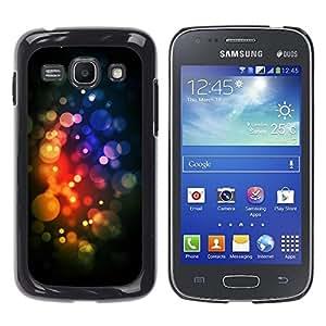 TopCaseStore / la caja del caucho duro de la cubierta de protección de la piel - Lights Vibrant Black Yellow Pink - Samsung Galaxy Ace 3 GT-S7270 GT-S7275 GT-S7272