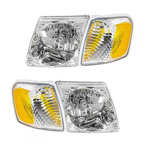 Headlight Headlamp Park Light Lamp Kit Set of 4 for Ford Explorer Sport Trac