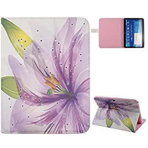 "DAMINFE Stand Case for Galaxy Tab 4 10.1"" (SM-T530 / T531 / T535,Butterfly fairy girl flower leather Stand Case Folio flip wallet Leather Case Cover for Samsung Galaxy Tab 4 10.1"" SM-T530 / T531 / T535"