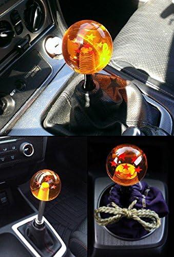 RONSHIN Creative Dragon Ball Universal Manual Gear Shift Knob Stick Acrylic Shifter Lever Head 7 Stars Auto Accessories