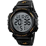 Skmei 1258 Men Digital Big Dial 50M Waterproof Chronograph LED Chronograph Watch