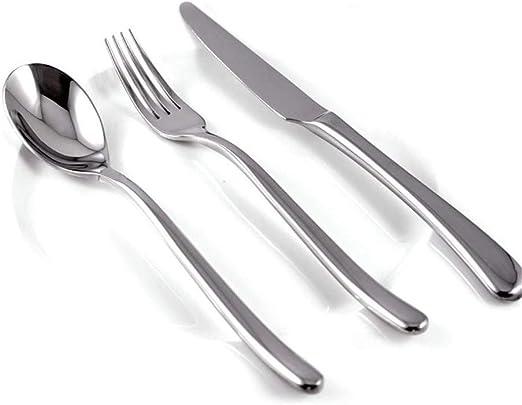 Juego de cuchillos y tenedores de acero inoxidable Juego de ...