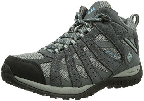 Columbia Womens Redmond Mid Waterproof Trail Shoe Light GreySky Blue 7 M US