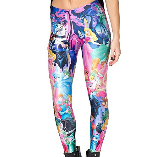 Disney Tights (Sheoutfit Women's Hot Sleeping Beauty Leggings Pants Free Size Color9)