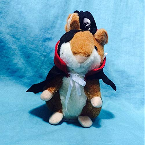Pirate Talking Hamster Mouse Baby Stuffed Animal, Plush Toys, with Funny Cartoon Tune Doll, Mimts Voices, Squeaky Helium Voice, Language, Gift for Kids and Him/Adult