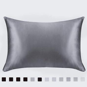 Amazon Com Juwenin Luxury Satin Pillowcase With Zipper Silky