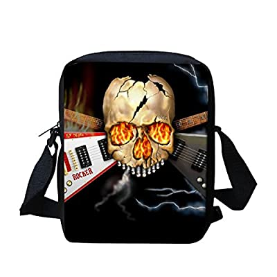 Cool Skull Kids Messenger Bags for School Cross Body Shoulder Bag Cute for  Travel 7c4c61cf1e4a1