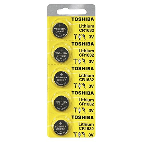 Toshiba CR1632 3 Volt Lithium Coin Battery (5 Batteries)