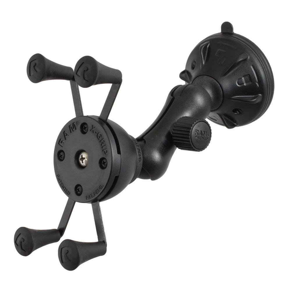 RAP-B-166-2-UN7U RAM Composite Twist-Lock Suction Cup Mount with Universal X-Grip Cell Phone Cradle by RAM MOUNTS
