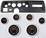 Classic Dash 104701911 Chevelle SS Black Dash Carrier Panel w/ TR Concorse Black Face Gauges